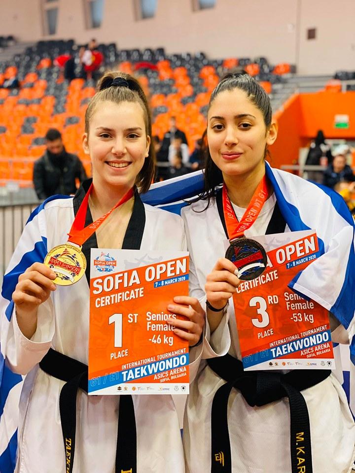 Χρυσό μετάλλιο η Παππά στο Sofia Open G1, χάλκινο η Καραγιάννη